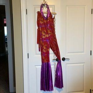 Women's 70s style disco costume